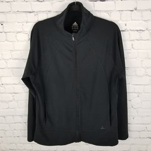 ADIDAS | mock neck full zip athletic jacket